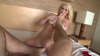 Candy Manson in POV expressing oral passions before shaved pussy fucking