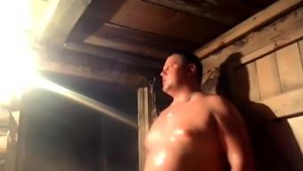 Chubby gay men in Men Naked in voyeur the Sauna