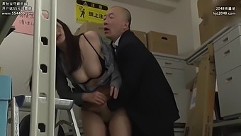 Humiliated office lady in a pantyhose