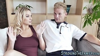 Horny mature stepmom with big tits