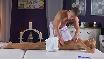 Massage leads to smooth fucking on the table with Katrin Tequila