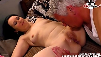 German brunette milf seduced for car fuck