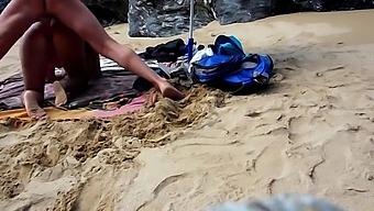 Lisa And Sparrow Fuck At The Public Nudist Beach