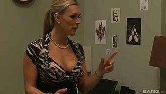Busty chick Tanya Tate takes a long cock in her tight vagina
