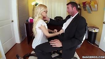 Hardcore office fucking with small tits secretary Alex Grey