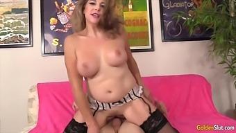 Golden Slut - Desirous GILFs Getting Impaled on Long Cock Compilation