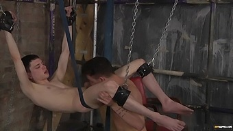 Video of two dudes having kinky anal sex in the BDSM dungeon