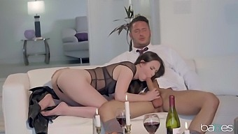 Seduced By A Stunning Brunette Woman - Casey Calvert And Danny Mountain