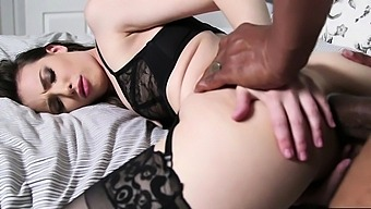 Small tits hotwife suck and anal reamed by a huge black cock