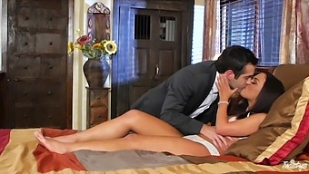 Mutual oral petting is turned into some hard doggy banging for Amara Romani
