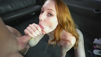 Ginger slut gets the dick in pretty rough modes while in the bang bus