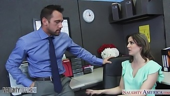 Stripping right in the office secretary Addie Juniper is poked mish on the table