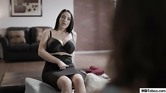 Therapist surprises busty client with a DP