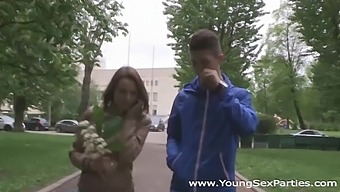 Amateur Russian group sex video featuring students