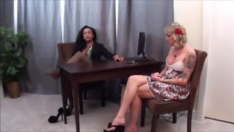 Workplace Pantyhose Homage and devotion