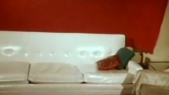 Slender white colored blond youthful op welke manier effect cock located on the couch