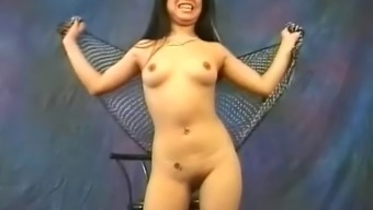 Pretty Far eastern hobo Miki Chan does some erotic, naked dancing