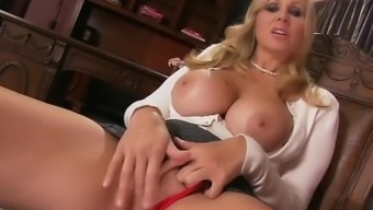 Stepmom Julia Ann Exhibits Stepson How To Inflate His Penis Off!