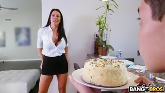 reagan foxx gives juan her charming pussy on his wedding anniversary