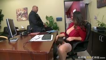 alison tyler has ceo's youngster eat her hungry pussy underneath her desk