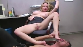 fetsh workplace enjoyable considering the naughty brown aiden starr