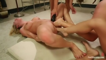extreme leg fisting lesbian orgy along with four evil whores