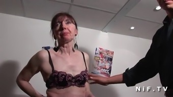Naughty french mature popped fists fucked and sodomized