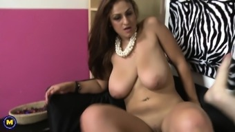 Big tits wifey and mom rides younger great manhood