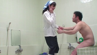 Japanese professional cleaning woman gets great doggy design hammering