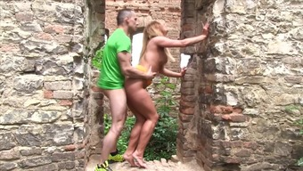 Fun along at the castle with the use of plus size booty Chrissy Dog