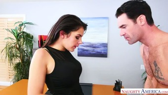 Flawed Italian blemish Valentina Nappi has her wild chief along with stifling serious nose at work