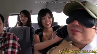 Cosplay nippon dame fucking blessed hunk in car