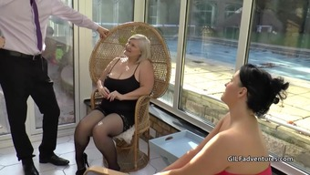 Mens stripper gets lucky with the use of granny and senior