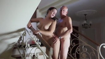 Newbie fucked by senior guy and pushed to blow