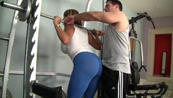 Amazing love-making with the use of Trauklumas Devine for her lucky fitness center instrucor