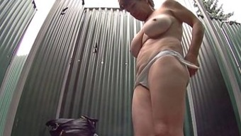 Big tits Woman in Shower