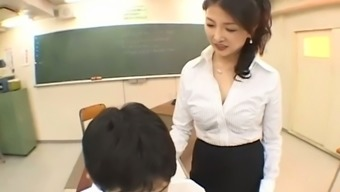 My attractive tutor will never consider her hands off of the bulge around my pants