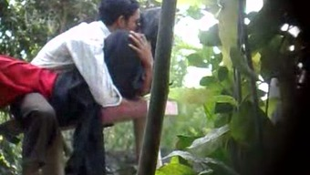 Concealed cam porn video files open air of an Indian novice number of