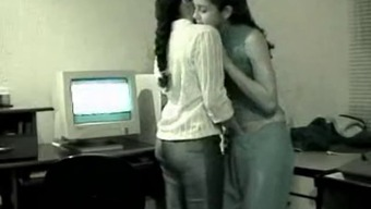 Gorgeous Lesbian Indian Teens Intimidated Getting Caught
