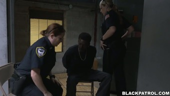 A couple of slutty cops make the most over dark colored scofflaw
