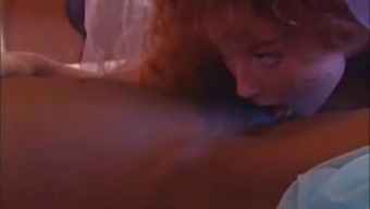 Redheaded future bride comes in a hot threesome back with her sexy friend and her Guy