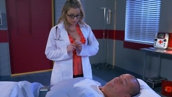 Female physician along with astounding body savours the penis in hard options