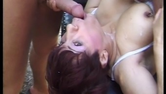 FRENCH GRANNY FUCKED By a couple of BIG DICKS - Twofold PENETRATION