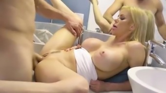 Possibility Lords - Dirty blond milf Alexis Fawx gets pounded in the bath room