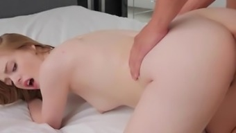 PASSION-HD Youngster Dolly Leigh fucked after being caught masturbating