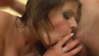 Girl by using hairy crimson goes wild on great and difficult penis