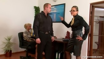 Female in blouses use a males substitute