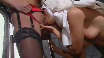 Attractive Nuns Have a very Lesbian Scebe By using Intercourse Things