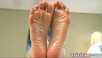 Path craze tgirl displaying toes and overpass