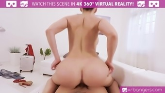 VR PORN-Busty Aletta Sea Get Cracked And Titty Fuck Utilizing a